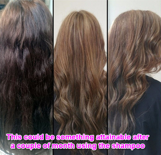 for lightens the hair in a natural way