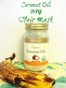 Banana and coconut oil mask