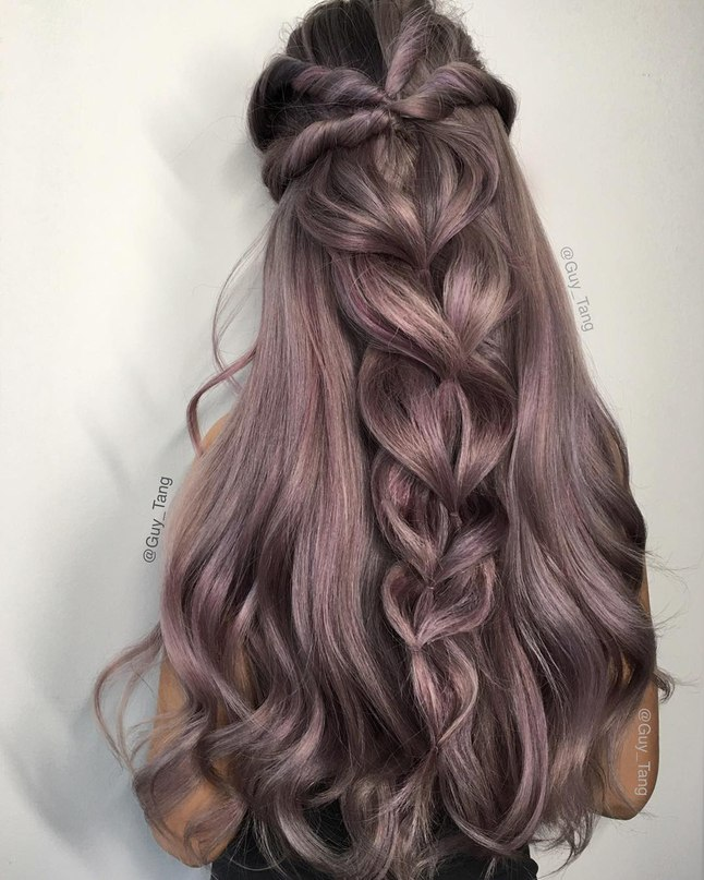 Purple metallic locks