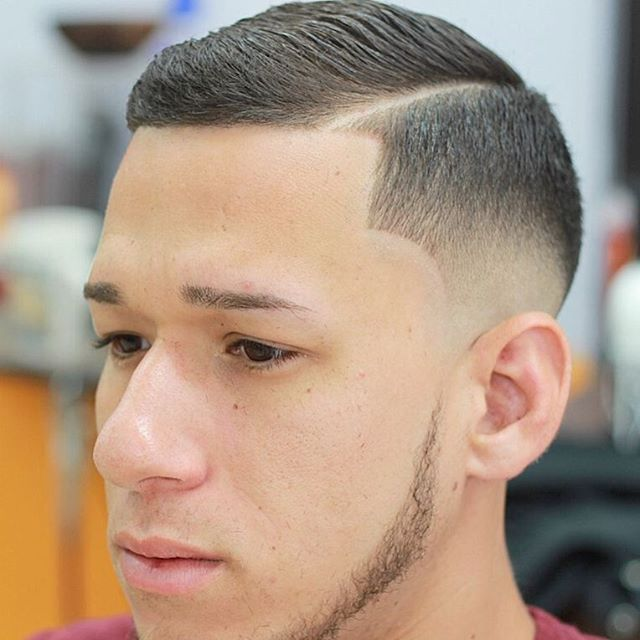 short hairstyle for men side part