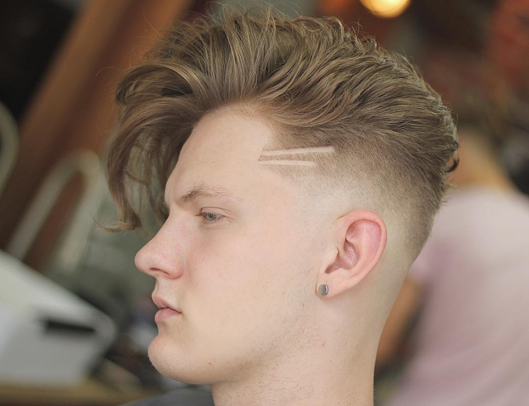 Stylish haircuts for men long fringe and bald fade