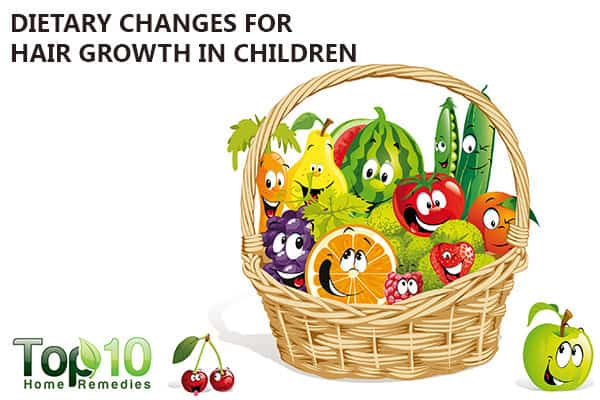 dietary changes for hair growth in kids